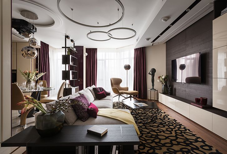 living room Kiev residence StudioBolshakova indiaartndesign