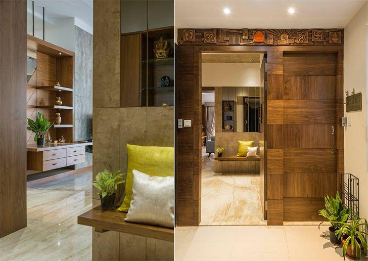 entrance mumbai home OHAStudios indiaartndesign
