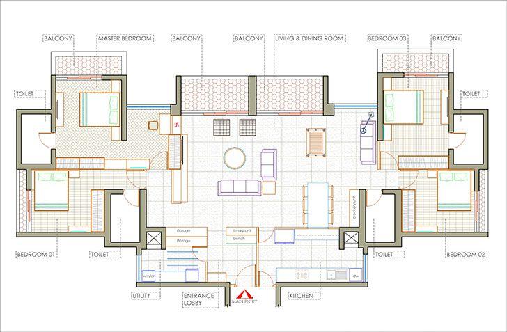 layout mumbai home OHAStudios indiaartndesign