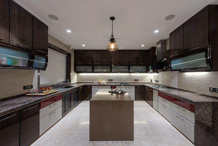 island kitchen Agarwal home ASquareDesigns indiaartndesign