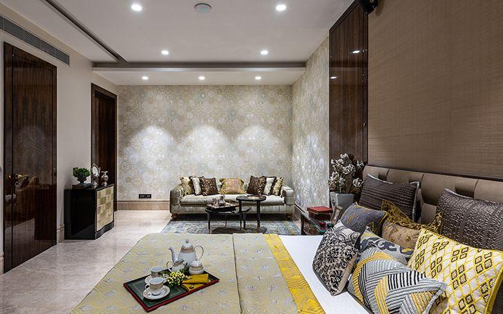luxe appeal bedroom Agarwal home ASquareDesigns indiaartndesign
