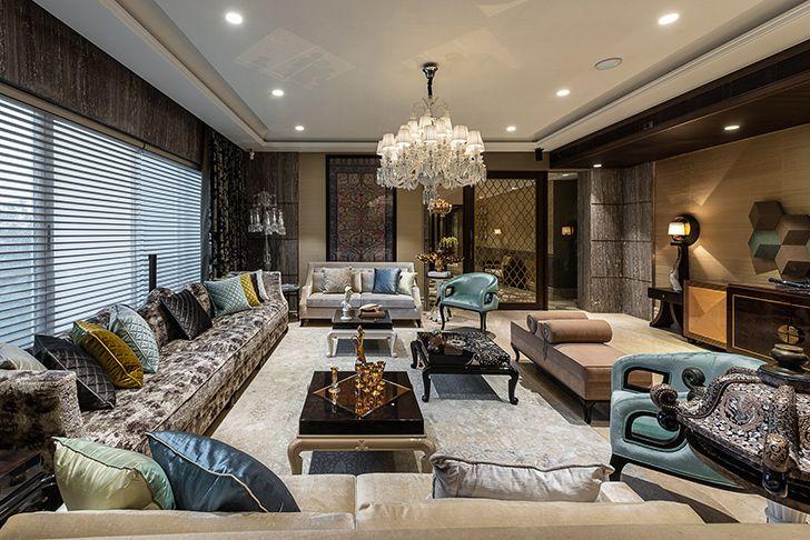 luxurious livingroom Agarwal home ASquareDesigns indiaartndesign