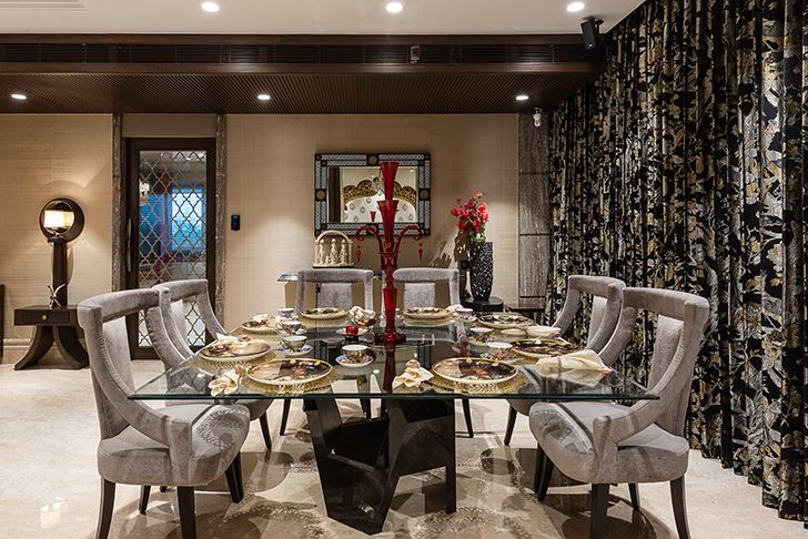 plush diningroom Agarwal home ASquareDesigns indiaartndesign