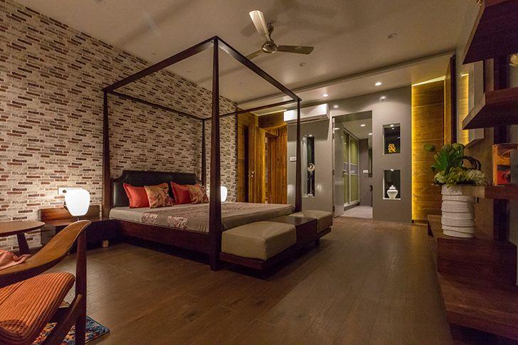 bedroom suite luxurious pune residence DesignersGroup indiaartndesign