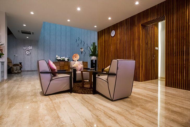 cosy seating luxurious pune residence DesignersGroup indiaartndesign
