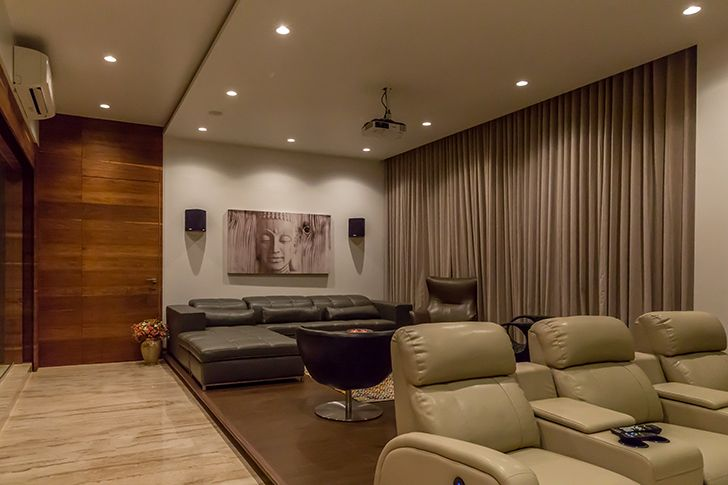 home theatre luxurious pune residence DesignersGroup indiaartndesign