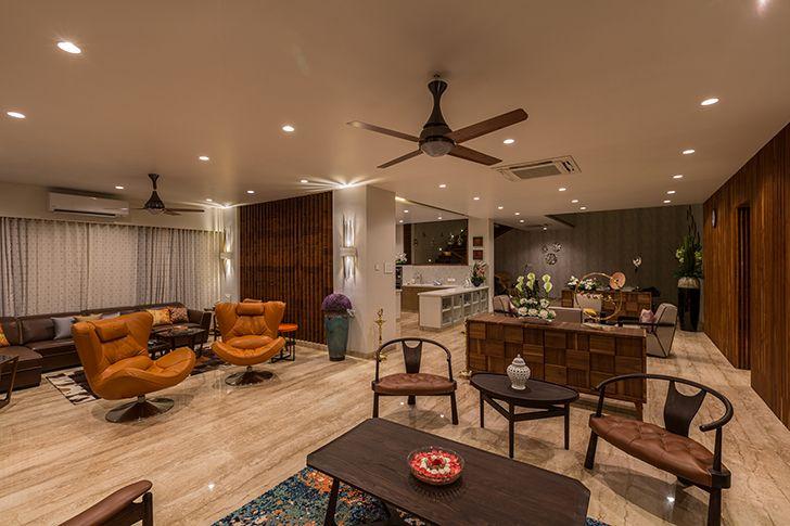 living dining luxurious pune residence DesignersGroup indiaartndesign
