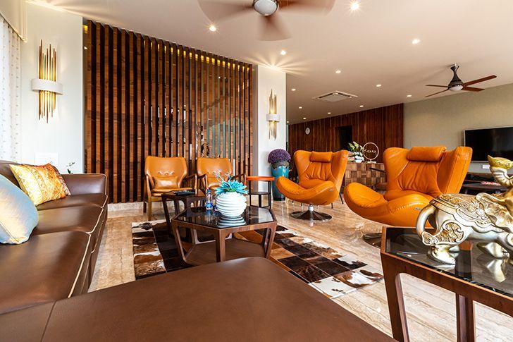 living room luxurious pune residence DesignersGroup indiaartndesign