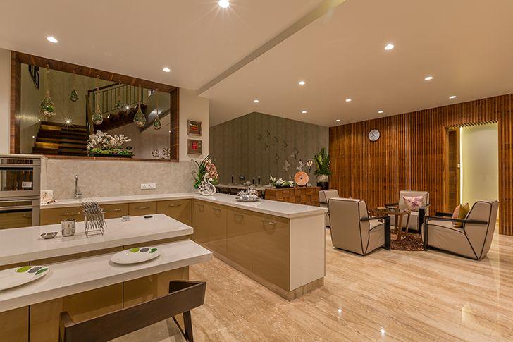 open kitchen luxurious pune residence DesignersGroup indiaartndesign