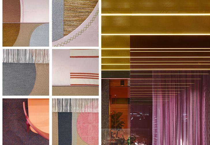 colours and patterns ObjectCarpetRestaurant LaVisione IppolitoFleitzGroup indiaartndesign