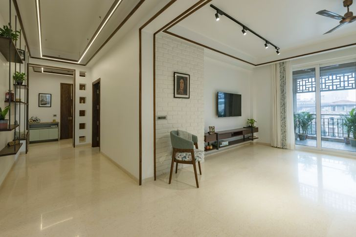 view of passage and living framed chimera IntrigueDesignStudio indiaartndesign