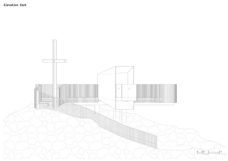 plan elevation east otzi peak noa indiaartndesign