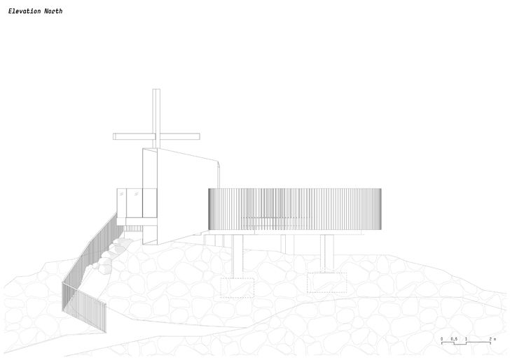 plan elevation north otzi peak noa indiaartndesign