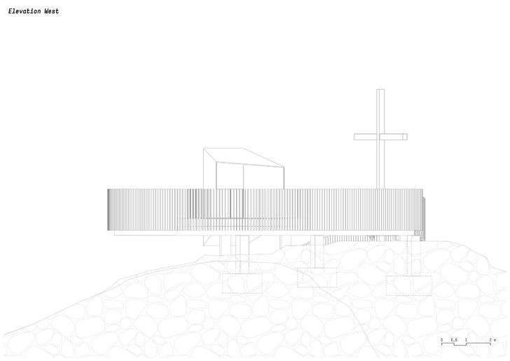 plan elevation west otzi peak noa indiaartndesign