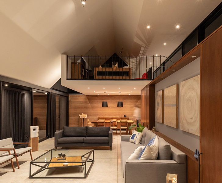 """family room CasaLandJ Alvaro Moragrega Architects indiaartndesign"""