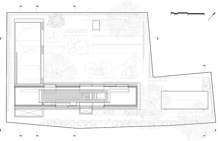 """first floor plan CasaLandJ Alvaro Moragrega Architects indiaartndesign"""