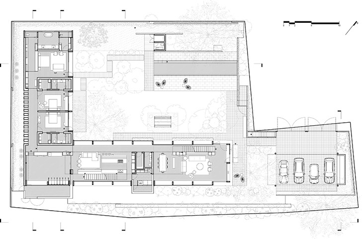 """ground floor plan CasaLandJ Alvaro Moragrega Architects indiaartndesign"""