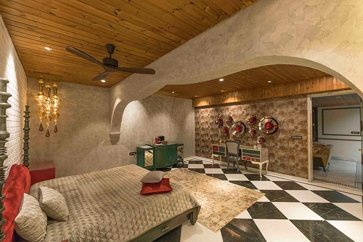 """Moroccan themed bedroom HyderabadResidence Inhabit by NeetaKumar indiaartndesign"""