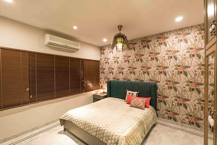 """bold floral backdrop HyderabadResidence Inhabit by NeetaKumar indiaartndesign"""