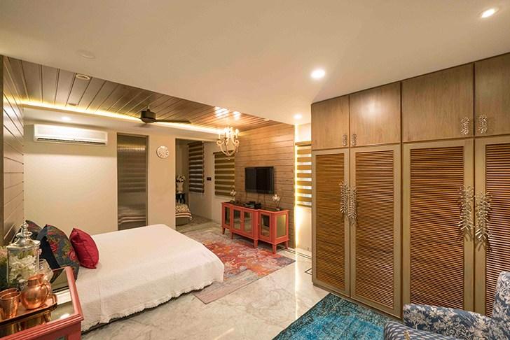 """clean lines bedroom HyderabadResidence Inhabit by NeetaKumar indiaartndesign"""