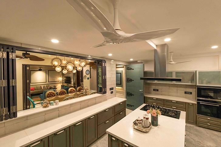"""island kitchen HyderabadResidence Inhabit by NeetaKumar indiaartndesign"""