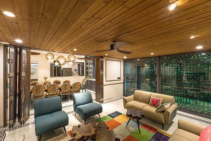 """lounge HyderabadResidence Inhabit by NeetaKumar indiaartndesign"""