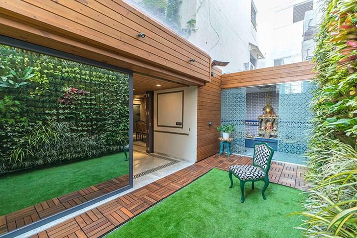 """""""vertical garden HyderabadResidence Inhabit by NeetaKumar indiaartndesign"""""""