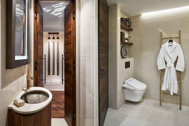 bathroom ParisianResidence ArchitectHassanArji indiaartndesign