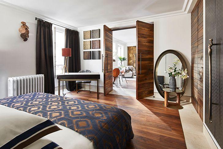 bedroom ParisianResidence ArchitectHassanArji indiaartndesign