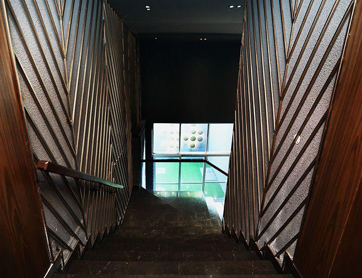 panelled staircase TheStallion AsroArcadedesignStudio indiaartndesign