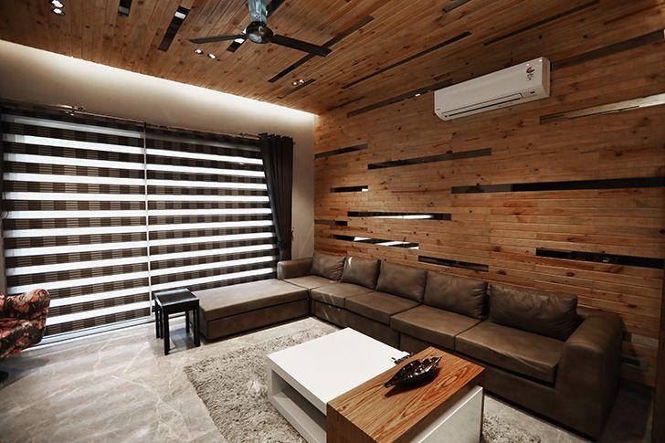 wood panelled room TheStallion AsroArcadedesignStudio indiaartndesign