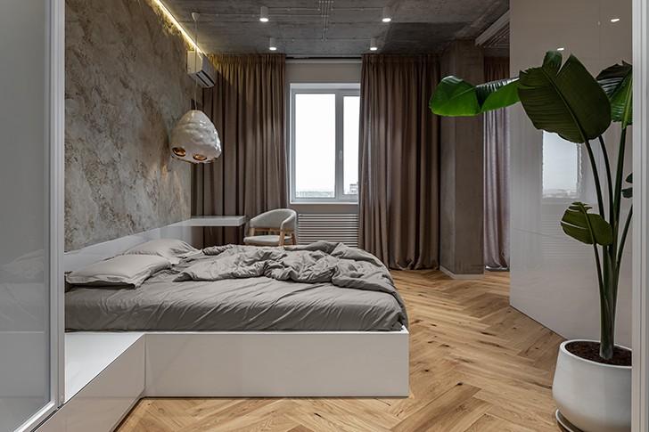 """bedroom mazankaApartment Kyiv SergeyMakhnoArchitects indiaartndesign"""