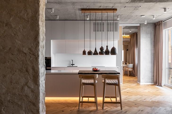 """""""kitchen mazankaApartment Kyiv SergeyMakhnoArchitects indiaartndesign"""""""